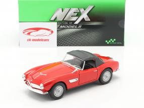 BMW 507 Cabrio Closed Soft Top rood 1:24 Welly