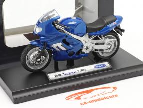 Triumph TT600 Año de construcción 2002 azul 1:18 Welly