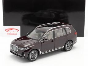 BMW X7 (G07) year 2019 ametrine red metallic 1:18 Kyosho