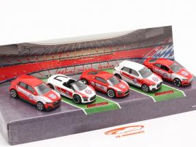 5-Car Set Audi FC Bavaria Munich 1:64 Majorette