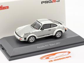 Porsche 911 Walter Röhrl x911 white / black 1:43 Schuco