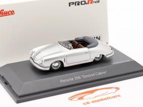 Porsche 356 Gmünd Cabriolet silber 1:43 Schuco