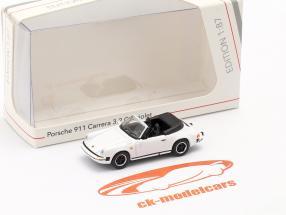 Porsche 911 Carrera 3.2 Convertibile bianca 1:87 Schuco