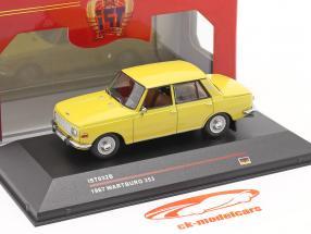 Wartburg 353 an 1967 Jaune 1:43 IST-Models