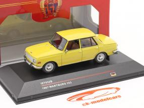 Wartburg 353 jaar 1967 geel 1:43 IST-Models