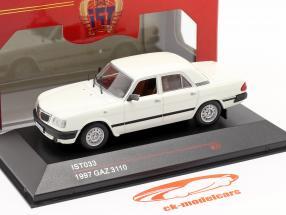 GAZ 3110 año 1997 blanco 1:43 IST-Models