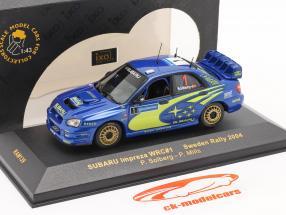 Subaru Impreza WRC #1 corrida Suécia 2004 Solberg, Mills 1:43 Ixo