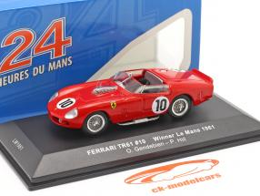 Ferrari TRI/61 #10 ganador 24h LeMans 1961 Gendebien, Hill 1:43 Ixo