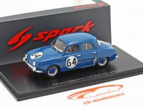Renault Dauphine #64 ganador Clase T1.0 12h Sebring 1957 1:43 Spark
