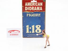 Bikini Car Wash Girl Stephanie figura 1:18 American Diorama