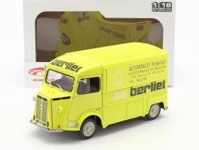 Citroen Type H Berliet Service Byggeår 1969 gul 1:18 Solido
