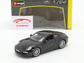 Porsche 911 (991) Carrera S Baujahr 2013 schwarz 1:24 Bburago