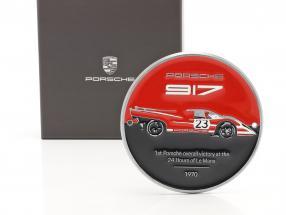 plaque Grille Porsche 917K Salzburg #23 winnaar 24h LeMans 1970