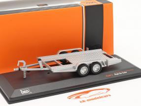 vedhæng Bil trailer sølv 1:43 Ixo