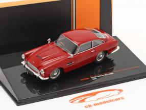 Aston Martin DB4 Coupe RHD Bouwjaar 1958 donker rood 1:43 Ixo