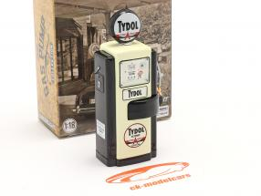 Wayne 100-A Tydol Benzinpumpe 1948 sort / hvid 1:18 Greenlight