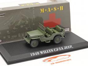 Willys Jeep CJ-2A 1949 TV-Serie M*A*S*H (1972-83) oliv 1:43 Greenlight
