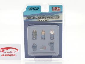 Auto Transporter Crew Conjunto de figuras 1:64 American Diorama