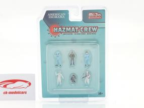Hazmat Crew Conjunto de figuras 1:64 American Diorama
