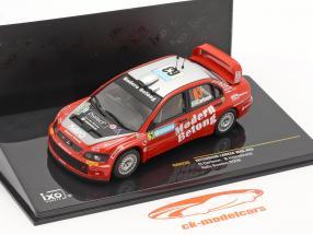 Mitsubishi Lancer WRC #63 corrida Suécia 2006 Carlsson, Holmstrand 1:43 Ixo