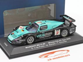 Maserati MC12 #9 vencedora FIA GT Spa 2005 V de Poele, Bartels, Schneider 1:43 Ixo