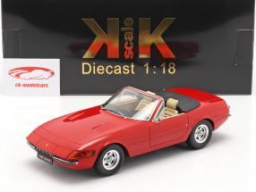 Ferrari 365 GTB/4 Daytona Converteerbaar Serie 2 1971 rood 1:18 KK-Scale