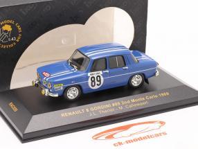 Renault 8 Gordini #89 reunión Monte Carlo 1969 Therier, Callewaert 1:43 Ixo / 2. elección