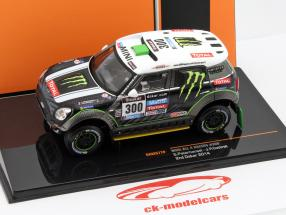 Mini All 4 Racing #300 2nd rally Dakar 2014 Peterhansel, Cottret 1:43 Ixo / 2. keuze