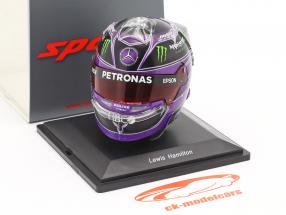 L. Hamilton #44 Mercedes-AMG Petronas tyrkisk GP formel 1 Verdensmester 2020 hjelm 1:5 Spark