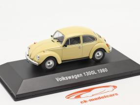 Volkswagen VW Bille 1300L Byggeår 1980 lysegul 1:43 Altaya