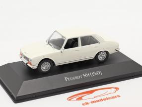 Peugeot 504 Bouwjaar 1969 Wit 1:43 Altaya