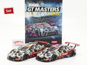 Iron Force Fan-Set: 2x Porsche 911 (991) GT3 R #69 Avec livre 1:18 Ixo
