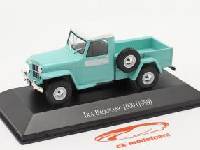 Ika Baqueano 1000 Willys Jeep Truck year 1959 turquoise 1:43 Altaya