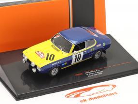 Ford Capri 2600 #10 2. plads Rallye Rajd Polski 1972 Röhrl, Berger 1:43 Ixo