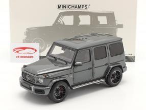 Mercedes-Benz AMG G63 Bouwjaar 2018 Grijs metalen 1:18 Minichamps