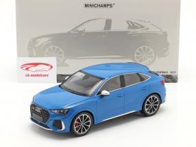 Audi RS Q3 Sportback (F3) Bouwjaar 2019 blauw metalen 1:18 Minichamps