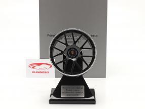 Porsche 911 (997 II) Turbo 2010 cerchio 19 inch nero 1:5 Minichamps