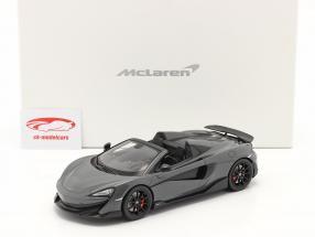 McLaren 600LT Spider Byggeår 2019 chicane Grå Med Udstillingsvindue 1:18 Spark