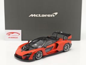 McLaren Senna Ano de construção 2018 mira laranja 1:18 TrueScale