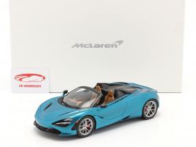 McLaren 720S Spider Año de construcción 2019 belize azul Con Escaparate 1:18 Spark