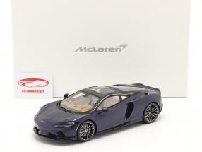 McLaren GT Baujahr 2019 namaka blau mit Vitrine 1:18 Spark