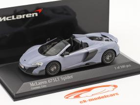McLaren 675LT Spider Ano de construção 2016 cinza cerâmico 1:43 Minichamps