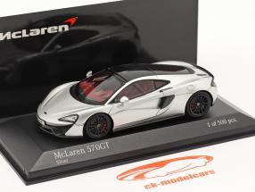 McLaren 570GT year 2017 silver metallic 1:43 Minichamps