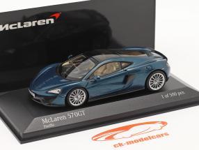 McLaren 570GT Ano de construção 2017 pacific azul metálico 1:43 Minichamps