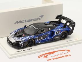 McLaren Senna GTR 2019 #12 azul / cromada / Preto 1:43 Spark