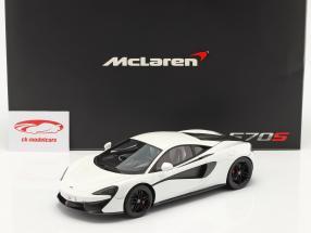 McLaren 570S year 2015 silica white 1:18 TrueScale