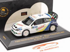 Ford Focus RS WRC EVO3 #4 vincitore Finlandia rally 2003 Martin, Park 1:43 Ixo