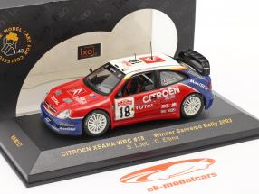 Citroen Xsara WRC #18 winnaar Sanremo rally 2003 Loeb, Elena 1:43 Ixo
