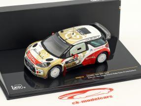 Citroen DS3 WRC Abu Dhabi Verden samle hold Præsentation 1:43 Ixo / 2. valg