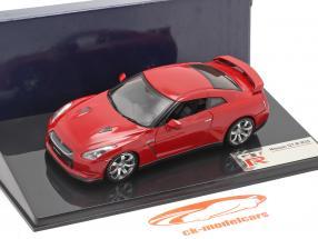Nissan GT-R R35 ano 2007 vermelho 1:43 Fujimi